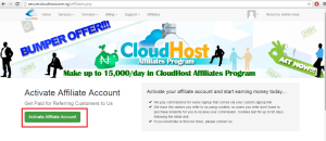 click on Activate Affiliate Account