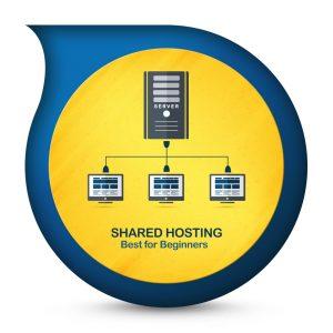 Image depiction of shared web hosting.